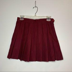 AA maroon tennis skirt